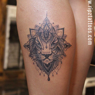Lion-ornamental-style-tattoo-ripz-tattoo