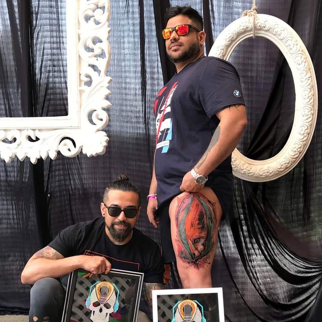Award Winning Tattoo artist Ripz Basak