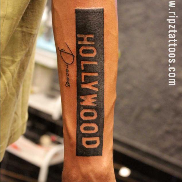 Hollywood-tattoo-at-ripz-tattoo-Guwahati