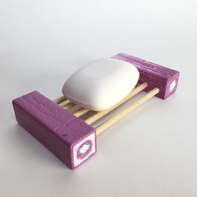 Zeepbakje klein in paars