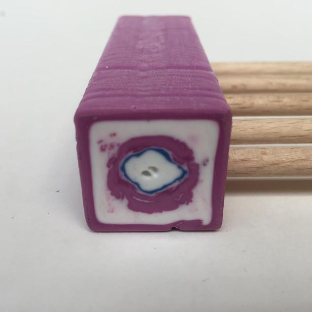 Detail kopse kant-Paars