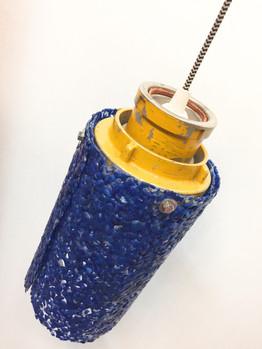Blauwe fire hose lamp