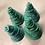 Thumbnail: Kerstversiering, set van 4 bomen