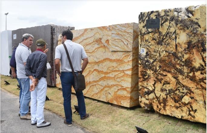 Quartzitos, granitos e mármores requisitados internacionalmente estarão expostos na Vitoria Stone Fair, que confirma presença de compradores árabes, americanos, chineses e europeus