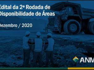 PUBLICADO EDITAL DA 2ª RODADA DE DISPONIBILIDADE DE ÁREAS DA ANM