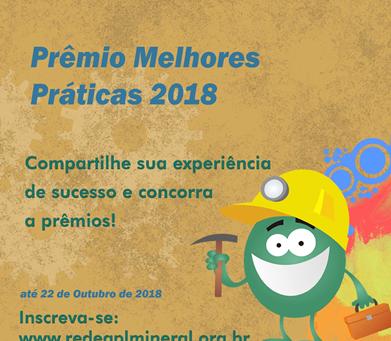 PRÊMIO MELHORES PRÁTICAS EM APL DE BASE MINERAL 2018 – PMP APL MINERAL 2018