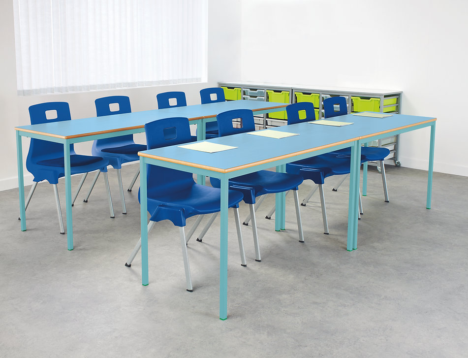 Fully Welded Coloured Tables - Room Phot