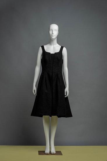 The Not-So-Little Brocade Black Dress