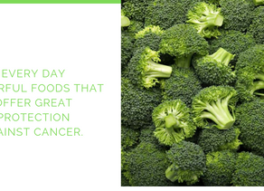 Everyday powerful foods that offer great cancer protection.