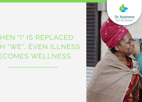 """When """"I"""" is replaced by """"We"""", even Illness becomes Wellness"""
