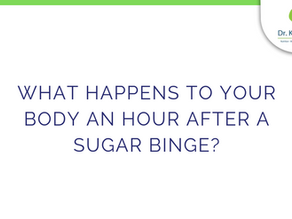 What happens to your body an hour after a sugar binge?