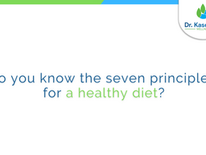Do you know the seven principles for a healthy diet?