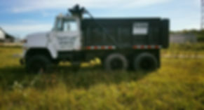Trucking hauling gravel sand topsoil dump truck