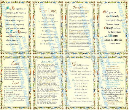 Inspiration Holy Card, 8 Designs