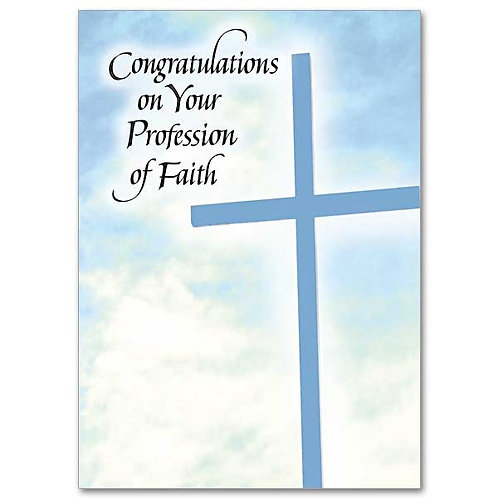 Congratulations on Your Profession of Faith/RCIA Card