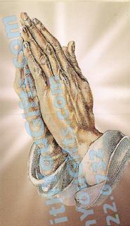 Praying Hands Holy Card