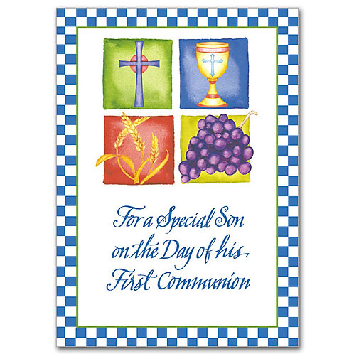 For a Special Son on the Day of His First Communion Card