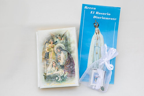 Spanish Communion Marbelized Missal Set, Girl