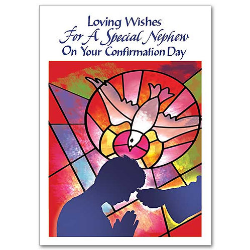 Loving Wishes For A Special Nephew/Confirmation Card