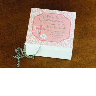 First Communion Box, Pink