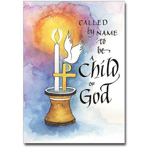 Called By Name/Child Baptism Card