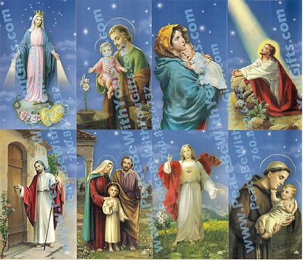 Glory Holy Card, 8 Designs