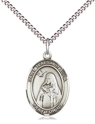 """St. Teresa of Avila Oval on 18"""" Chain"""