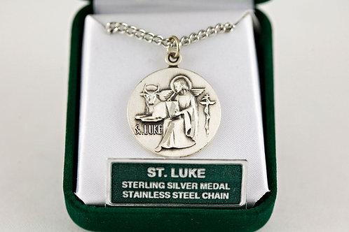 St. Luke Sterling Silver Medal, Large