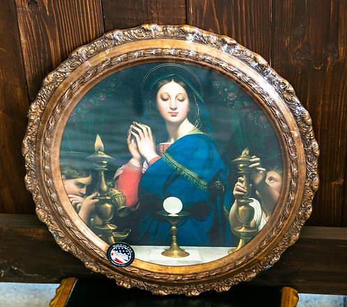 Madonna of the Host, Framed, Round, Small/Large