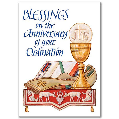 Blessings on the Anniversary of Your Ordination Card