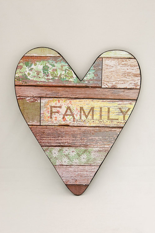 Family Heart Plaque