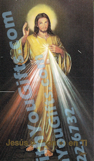 Divine Mercy Holy Card, Spanish