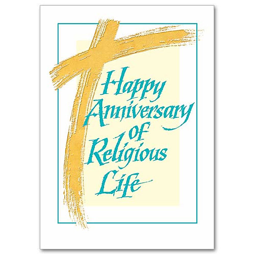 Your Service to God/Anniversary of Religious Life Card