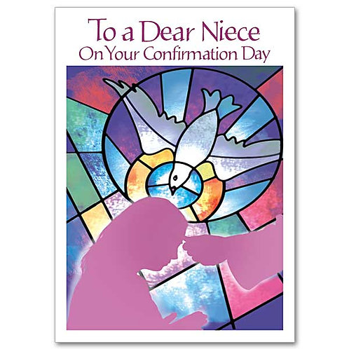 To a Dear Niece On Your Confirmation Card