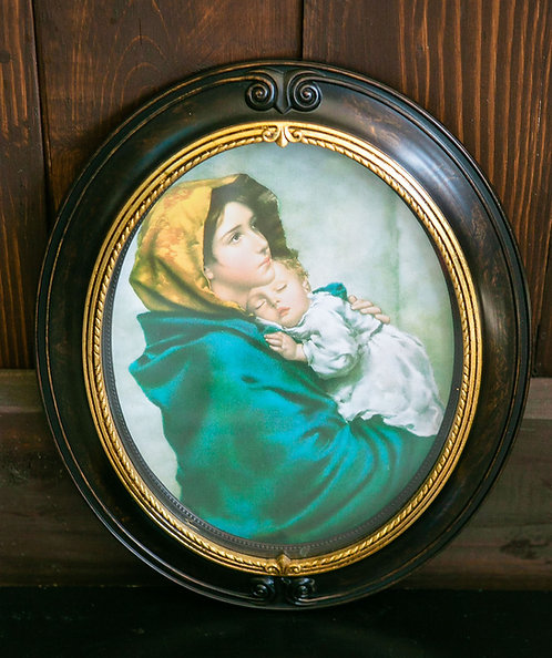 Madonna of the Streets, Jesus and Mary, Framed Oval