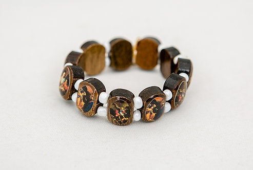Children's Saints Wood Bracelet