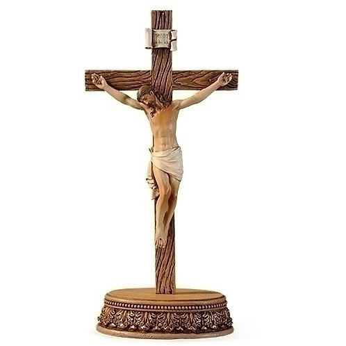 2 Piece Set Crucifix with Stand