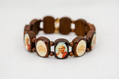St. John Paul the Great Wood Bracelet