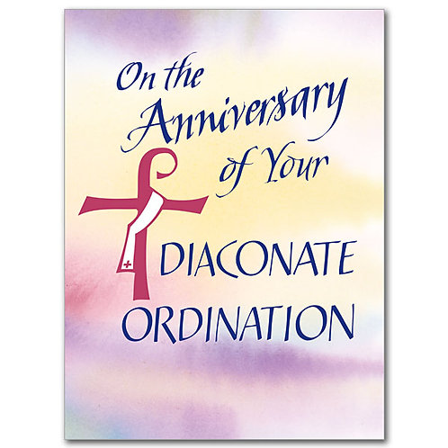 On the Anniversary of Your Diaconate Ordination Card