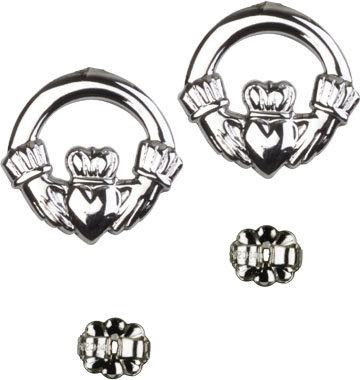 Sterling Silver Claddagh Dangle Earrings