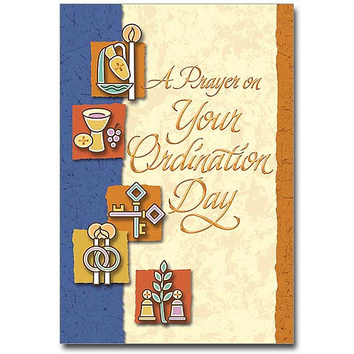 A Prayer on Your Ordination Day/Priest or Deacon Congratulations Card