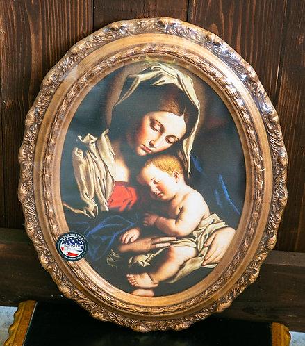 Madonna & Child by Sassoferrato, Framed Oval