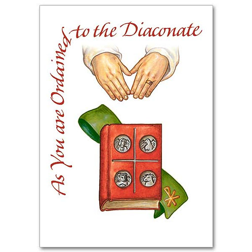 As You are Ordained to the Diaconate/Deacon Ordination Card