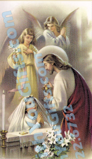 First Holy Communion Holy Card, Girl