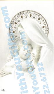 Sweet Madonna Holy Card