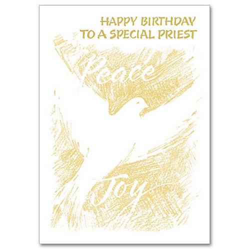 Happy Birthday to a Special Priest Card