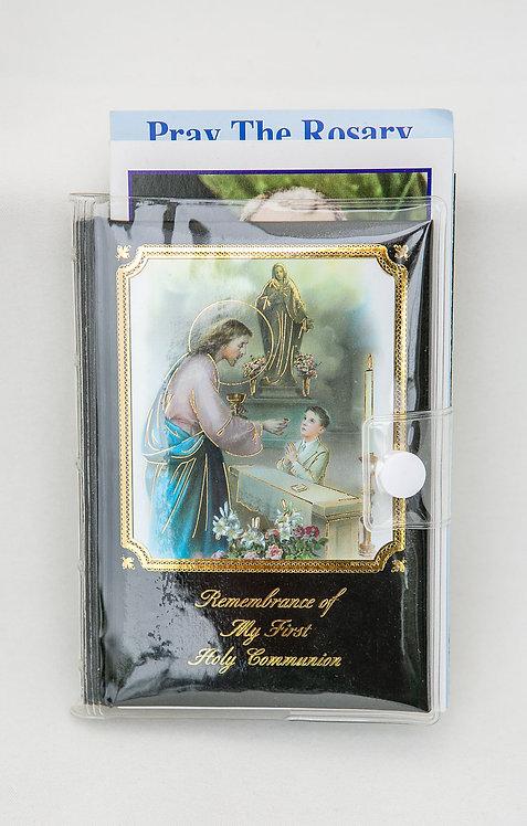 Communion Black Missal Gift Set, Boy