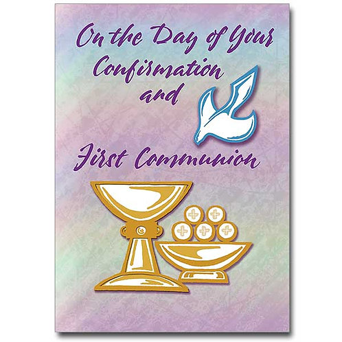 On the Day of Your Confirmation and First Communion Card