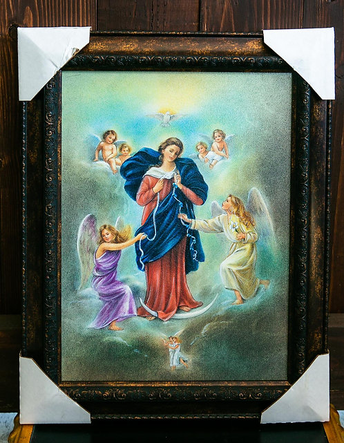 Our Lady of Undoer of Knots, Mary, Frame