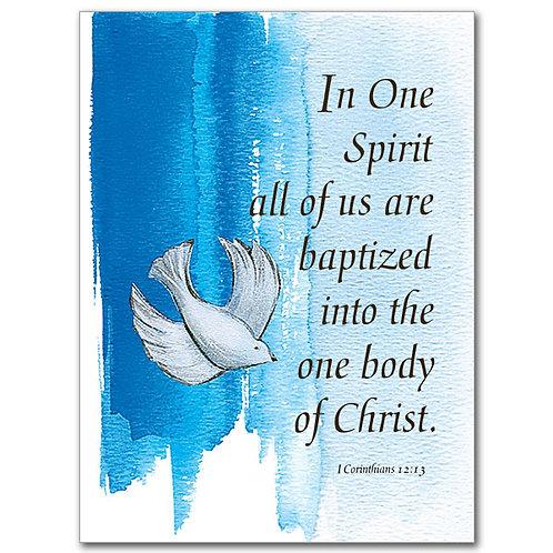 In One Spirit/Child Baptism Card